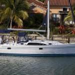 Catalina 315 at rest in Miami, FL.
